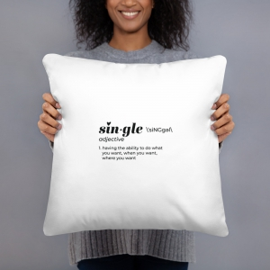 single definition pillow