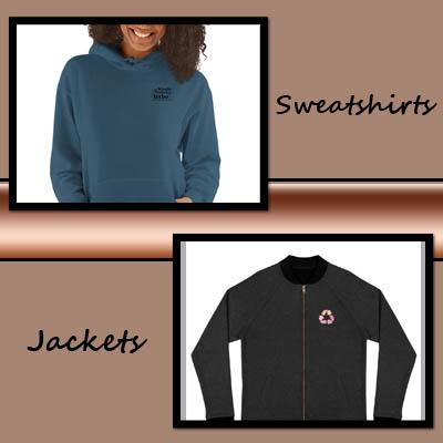 sweatshirts and jackets