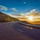 sunset on winding road