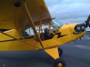 Piper Cub plane preflight