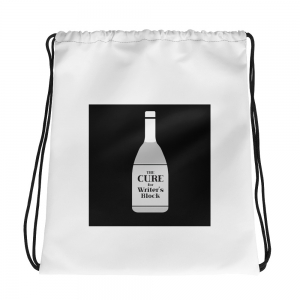 Cure for Writer's Block Drawstring bag