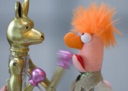 kangaroo toy punching beaker toy